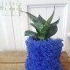 plant pouch from faux fur slipper